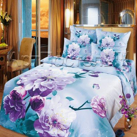 Постельное белье «Любовные мечты» двуспальное с европростыней, Сатин, Арт Дизайн