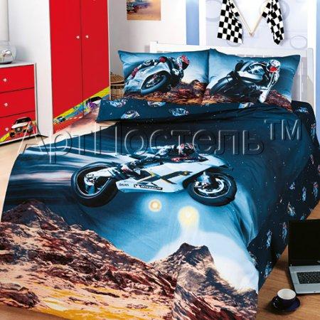 «Париж-Дакар» 1,5 - спальное постельное белье, Сатин, Арт Дизайн