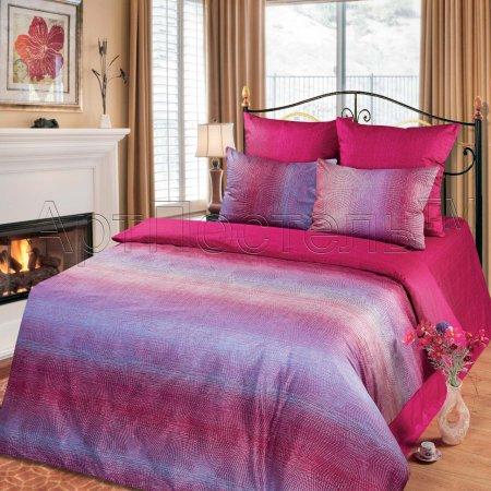Постельное белье «Розали» двуспальное с европростыней, Сатин, Арт Дизайн