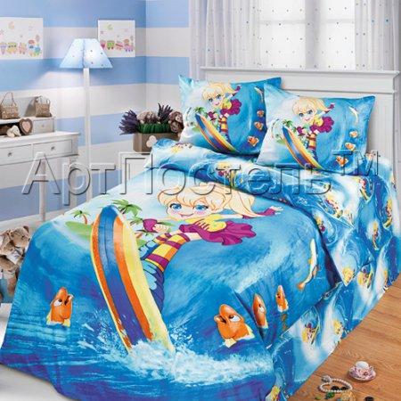 «Шалунья» 1,5 - спальное постельное белье, Сатин, Арт Дизайн