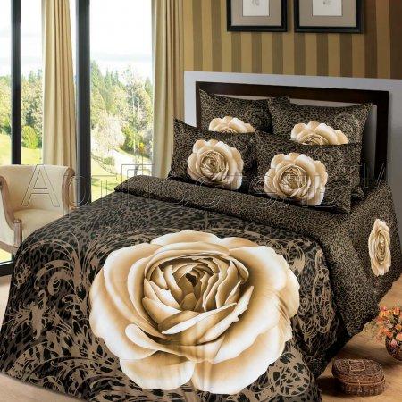 Постельное белье «Шарм №2» двуспальное с европростыней, Сатин, Арт Дизайн