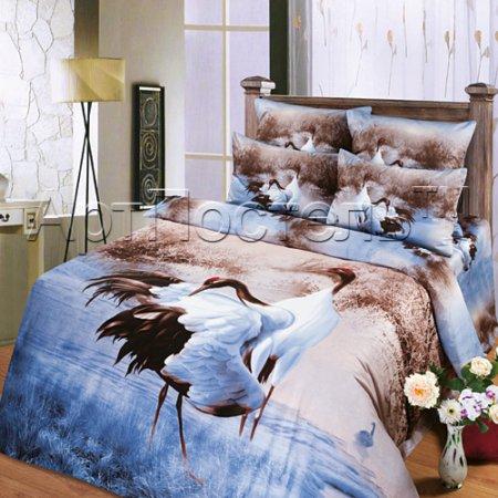Постельное белье «Совершенство №2» двуспальное с европростыней, Сатин, Арт Дизайн