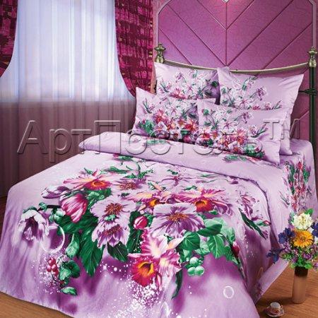 Постельное белье «Стихи о любви» 1,5 - спальное, Сатин, Арт Дизайн