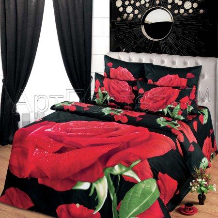 Постельное белье «Тайное желание» двуспальное с европростыней, Сатин, Арт Дизайн