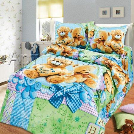 «Тёма» 1,5 - спальное постельное белье, Сатин, Арт Дизайн
