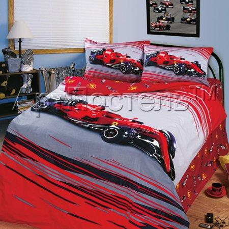 «Формула-1» 1,5 - спальное постельное белье, Сатин, Арт Дизайн