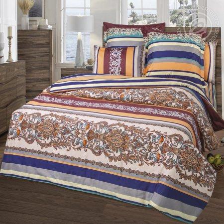 Постельное белье «Яхонт» двуспальное с европростыней, Сатин, Арт Дизайн