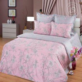 «Гиацинт» двуспальное с европростыней постельное белье, Сатин, Арт Дизайн