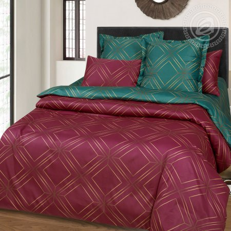 Постельное белье «Шарль» двуспальное с европростыней, Сатин, Арт Дизайн