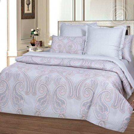 Постельное белье «Дамаск» двуспальное с европростыней, Сатин, Арт Дизайн
