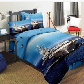 «DS-09-282» 1,5 - спальное постельное белье, Сатин, Вальтери